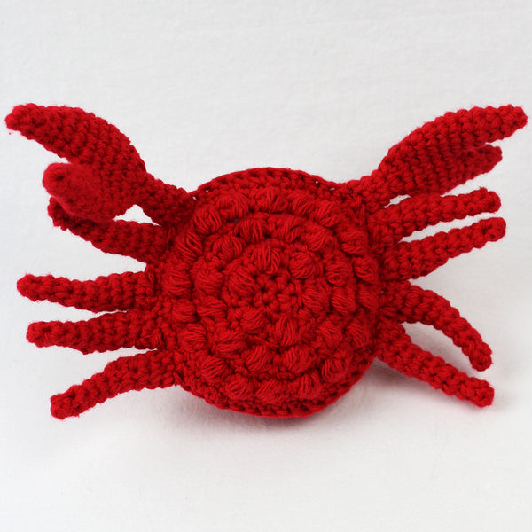 Clippy the Crab Scrubby Amigurumi Crochet Pattern