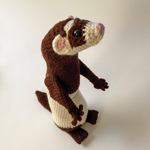 Fidget the Ferret Amigurumi Crochet Pattern