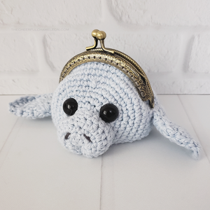 Mia the Manatee Coin Purse Crochet Pattern