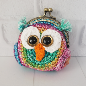 Hoot the Owl Coin Purse Crochet Pattern
