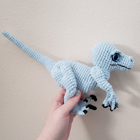 Riley the Raptor Amigurumi (blue)