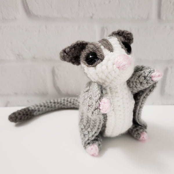 Customized Sassy the Sugar Glider Amigurumi