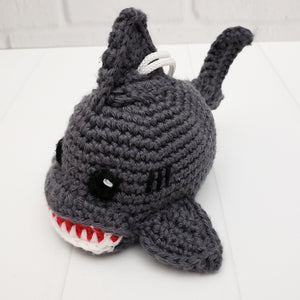 Sammy the Shark Scrubby Amigurumi Crochet Pattern