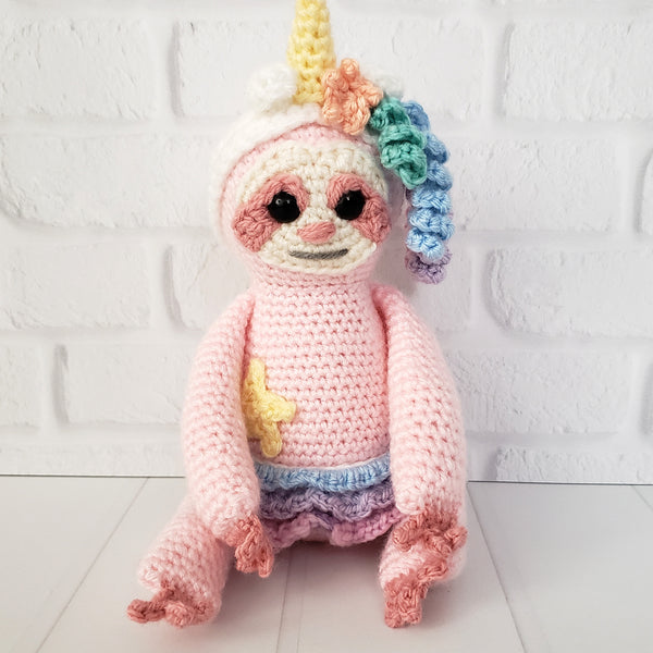 Sasha the Slothicorn Crochet Pattern