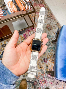 Checked Watch Band