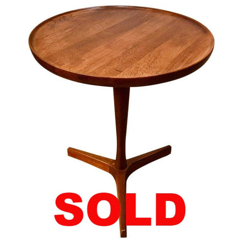 Hans C Andersen Teak  Small Pedestal Table