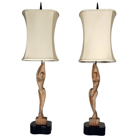 Heifetz Mid-Century Modern Pair of Table Lamps