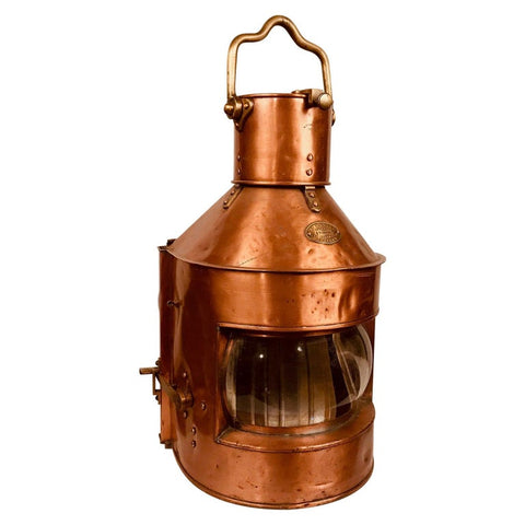 Wm Harvie Copper Signal Ship Lantern