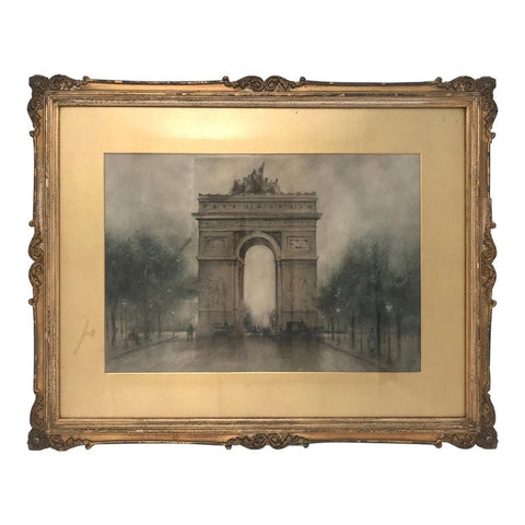 John Wesley Little L' Arc de Triomphe, Watercolor