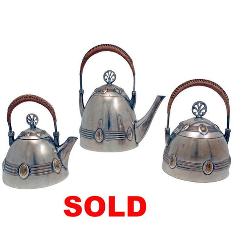 Art Deco WMF Three-Piece Tea Service