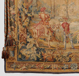 Aubusson Style Tapestry, Hunting  Scene