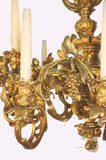 Fine Louis XV Style Gilt-Bronze Twelve-Light Chandelier