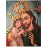 Cuzco School Ex Voto Painting of Two Christs