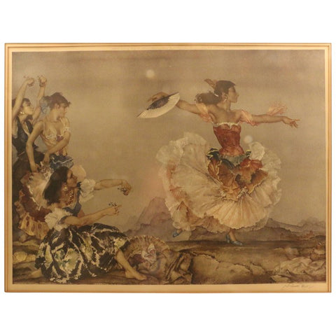 William Russell Flint, Danza Montana Colored Lithograph