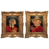 Erwin Eichinger Pair of Portraits of Tyrolean Countrymen