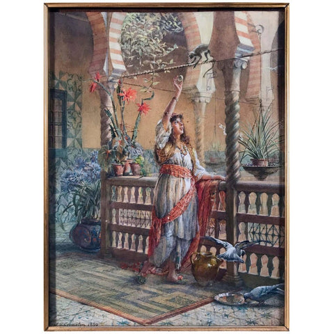 "James Shaw Crompton ""Want a Bit?"" watercolor, signed J S Crompton and dated 1889"