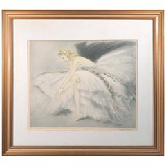 "Louis Icart ""Fair Dancer"" Hand Colored Aquatint"