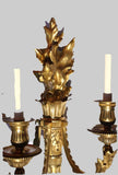 Set of Four Louis XVI Style Gilt Bronze Wall Sconces