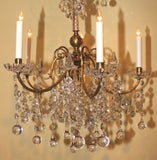 Gilt Bronze and Crystal Chandelier in the French Taste