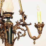 French Bronze Gazolier Modeled as a Torchlight