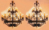 Wrought Iron Twenty-Light Ballroom Chandelier