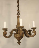 Louis XVI Style Bronze Six Light Chandelier