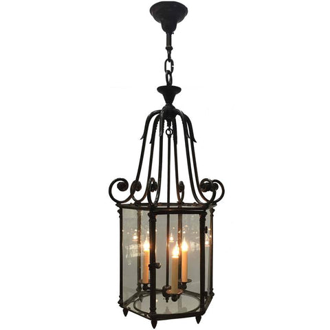 Louis XV Style Oxidized Bronze Gas Lantern