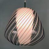 Murano Lattichino Glass Pendant Light circa 1950 for  Lightolier