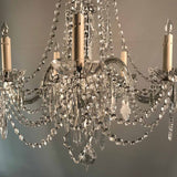 Vintage Czech Five-Light Lead-Crystal Chandelier