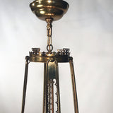 Brass Oriental Eight-Arm Chandelier