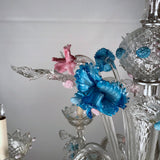 Italian Six Light Murano Lead Crystal Chandelier