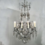 Louis XV Style Silvered Bronze and Crystal Chandelier