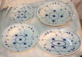 Assembled Partial Set of Royal Copenhagen Blue Fluted Dishes