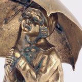 Chiparus Bronze Figure, Girl with Umbrella