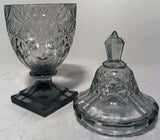Pair of Anglo-Irish Cut-Glass Covered Sweetmeats