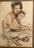Roland Strasser Mother and Child Drawing