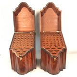Pair of George III Mahogany Knife Boxes