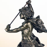 French, Early 20th Century Bronze, David Beheading Goliath