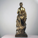 French Gilt Bronze Group Ceres