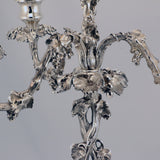 Pair of Victorian Silver Plated  Four Light  Candelabra