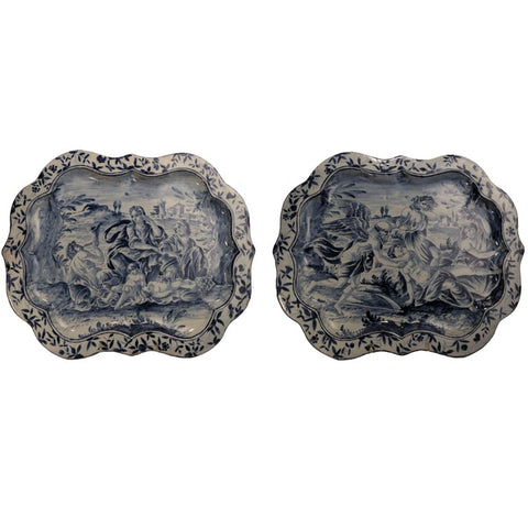 Pair of Savona Majolica Serving Plates