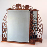 Pair of Copper Framed Art Deco Dressing Table Mirrors