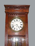 American Eastlake Oak Regulator Clock by Gilbert