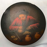 Brunswick Round Snuff Box, Painted with a Banker