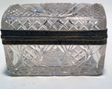 Cut Crystal and Gilt Bronze Dresser Box