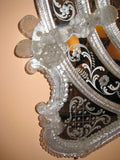 Venetian Oval Beveled Glass Mirror