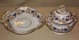 Pair of Derby Covered Sauce Tureens and Shell Form Dishes