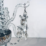 A Pair of George III Three-Light  Cut Lead Crystal Girandoles/Candelabra