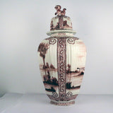 Large Antique Dutch Delft Jar and Cover
