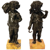 Pair of Grand Tour Bronze Putti
